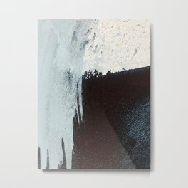 Like A Gentle Hurricane [3]: a minimal, abstract piece in blues and white by Alyssa Hamilton Art Metal Print