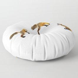 Fox Snow Jump Floor Pillow
