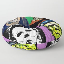Horror Pop Art Floor Pillow