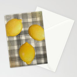 lemons yellow gray and gold  Stationery Cards