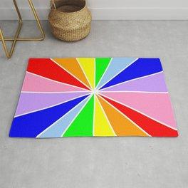 variation on the rainbow 3 Rug