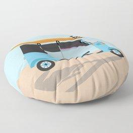 Surf Tuk Tuk in Sri Lanka Floor Pillow