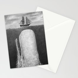 The Whale - mono Stationery Cards