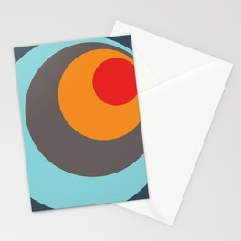 Brighid - Classic Colorful Abstract Minimal Retro 70s Style Dots Design Stationery Cards