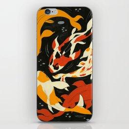 Koi in Black Water iPhone Skin