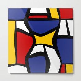 Curvy Mondrian Metal Print