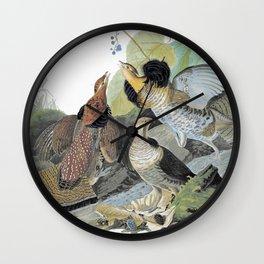 Ruffed Grouse - John James Audubon Wall Clock