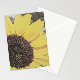 Giant Sunflower Colored Sketch Stationery Cards