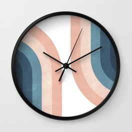 70s Rainbow Wall Clock