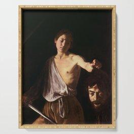 Michelangelo Merisi da Caravaggio - David with the Head of Goliath Serving Tray