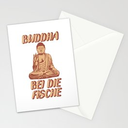 Buddha at the fish Funny saying gift Stationery Cards