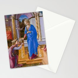 "Fra Filippo Lippi ""Annunciation with two Kneeling Donors"" Stationery Cards"