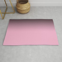 Ombre black pink white gradient soft colors blurred Rug