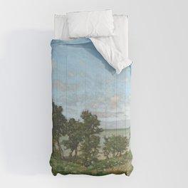 Claude Monet - Coastal landscape Comforters
