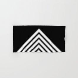Black White Stripe Hand & Bath Towel