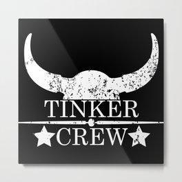 Tinker crew wild west emblem white Metal Print