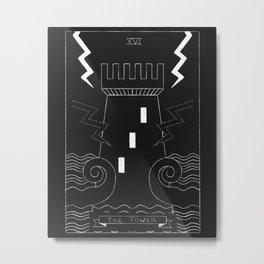 The Tower Tarot Card Metal Print
