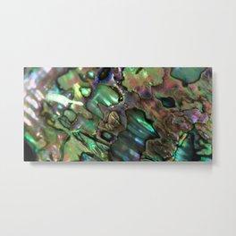 Oil Slick Abalone Mother Of Pearl Metal Print