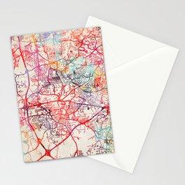 Apex map North Carolina NC Stationery Cards