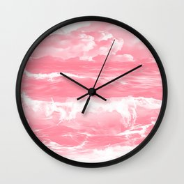 stormy sea waves reacpw Wall Clock