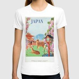 Vintage 1930s Japanese Travel Poster - Japan T-shirt
