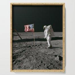 Man on the Moon Apollo 11 Serving Tray