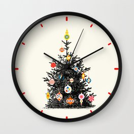 Retro Decorated Christmas Tree Wall Clock
