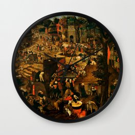 "Pieter Brueghel II (The Younger) ""A Village Fair (Village festival)"" Wall Clock"