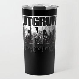 Blutgruppe Benzin - Motorcycle Rider Design Travel Mug