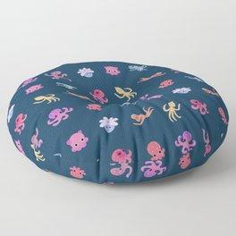 Octopus - dark Floor Pillow