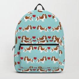 Cavalier King Charles Spaniel blenheim heart dog breed spaniels pet gifts Backpack