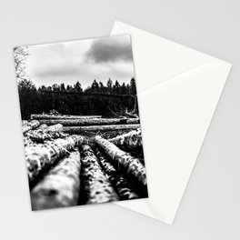 Poltery Site (Wood Storage Area) After Storm Victoria Möhne Forest 6 bw Stationery Cards