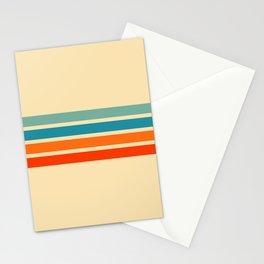 Ienao - Classic 70s Retro Stripes Stationery Cards