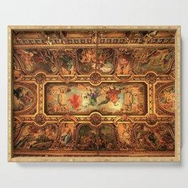 Midnight with Botticelli, Raphael, Michelangelo, & Perugino, Sistine Chapel, Rome Serving Tray