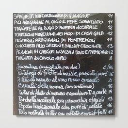 Italian menu Metal Print