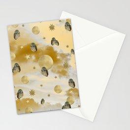 Owl Starry Sky Moon Dream #1 #decor #art #society6 Stationery Cards