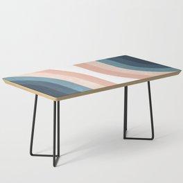 70s Rainbow Coffee Table