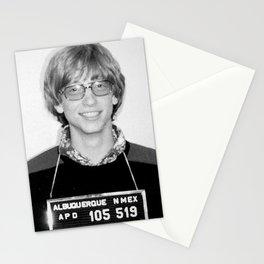 Bill Gates Mugshot 1977 Black & White Stationery Cards