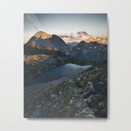Greifenberg Mountain during Sunrise Metal Print