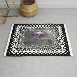 """""""Beez Lee Art : Foggy Square Point of View"""" Rug"""