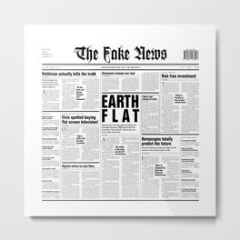 The Fake News Vol. 1, No. 1 Metal Print