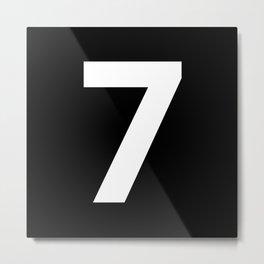 Number 7 (White & Black) Metal Print