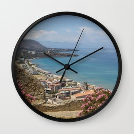 Cefalu view from La Roca Wall Clock