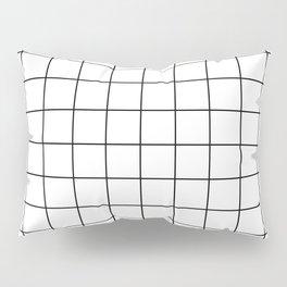 Grid Pattern Stripes Lines Black and White Minimalist Geometric Stripe Line Kissenbezug