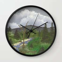 Fallen Timber by the Stream Wall Clock