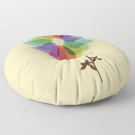 The windmill in my mind Floor Pillow