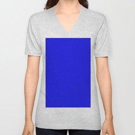 Blue Pixel Dust Unisex V-Neck