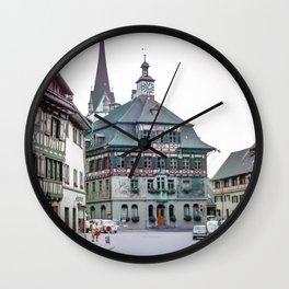 Stein am Rhein,Switzerland Wall Clock