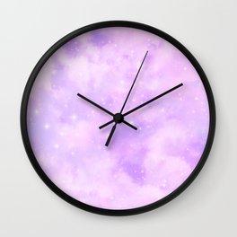 Pastel Cloulds Sky Seamless Nebula 204 Wall Clock