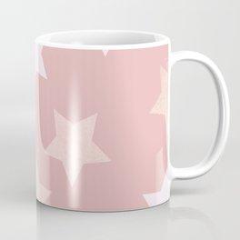 sweet pastel dusty pink golden colors stars pattern Coffee Mug